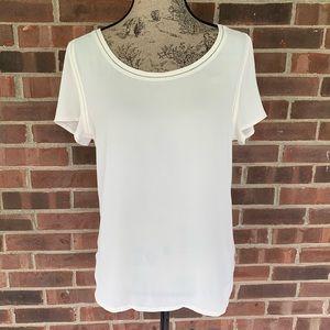 Like new LOFT cream white short sleeve top